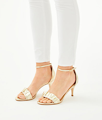 Carly Sandal, Gold Metallic, large 3