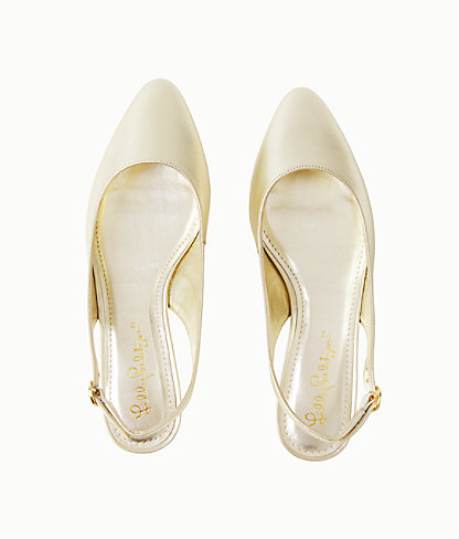 Ella Slingback Flats, Gold Metallic, large 1