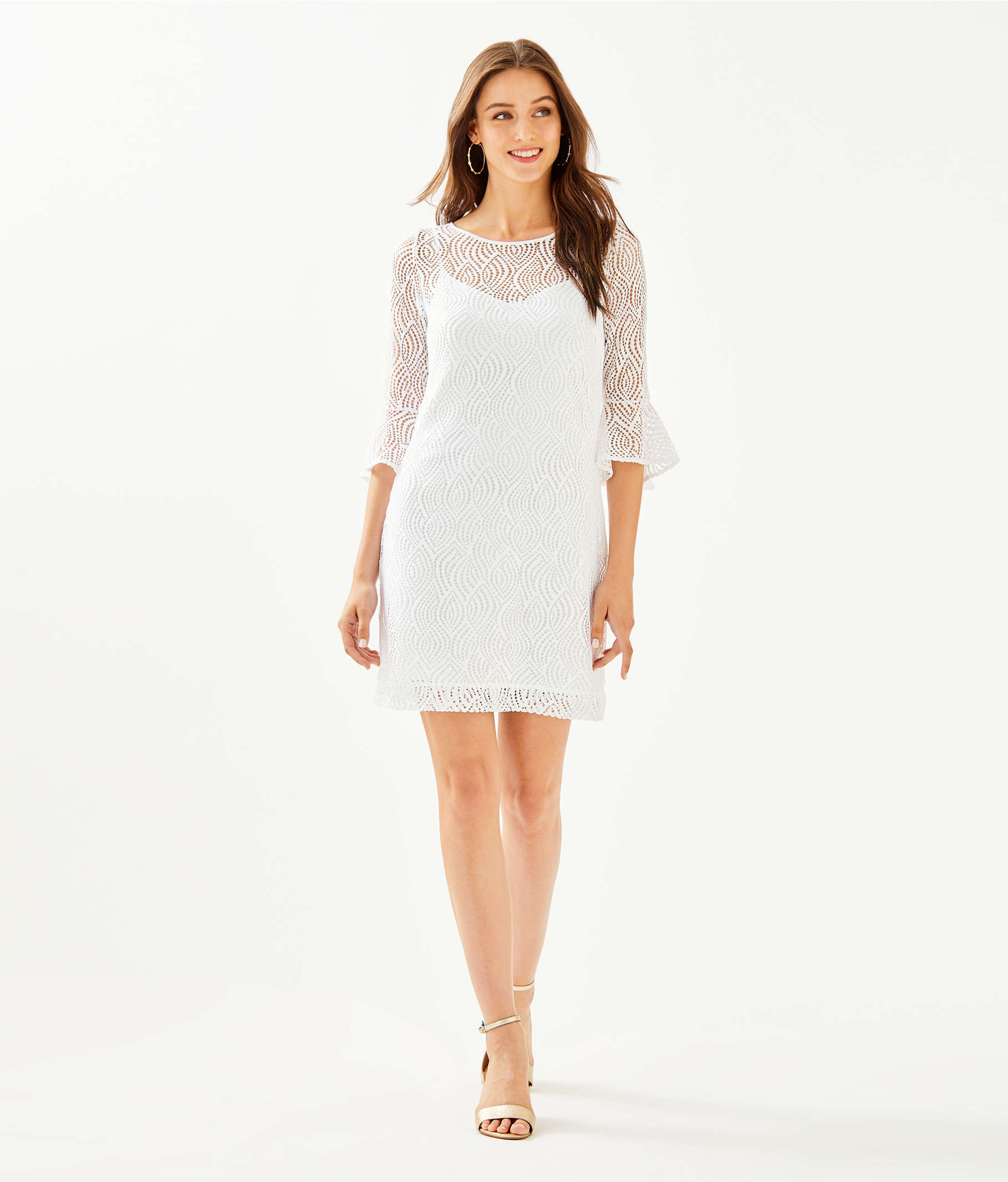 0e76644ed31447 ... Fontaine Dress, Resort White Flowing Leaf Lace, large ...