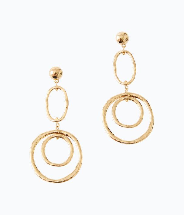 Ocean Breeze Earrings, Gold Metallic, large