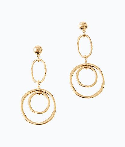 Ocean Breeze Earrings, Gold Metallic, large 0