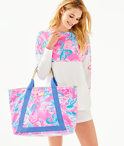 Sofina Tote, Prosecco Pink Pinking Positive Reduced, large 2