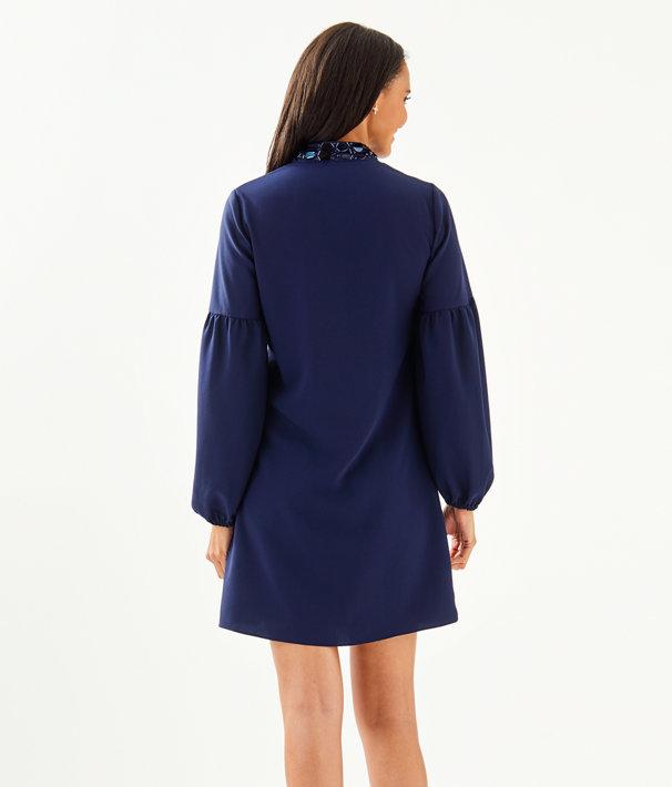 Shea Stretch Dress, True Navy, large