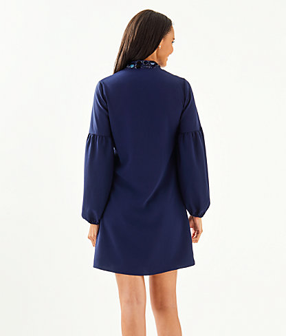 Shea Stretch Dress, True Navy, large 1