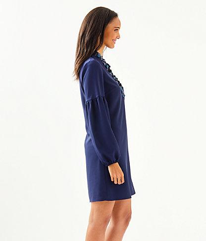 Shea Stretch Dress, True Navy, large 2