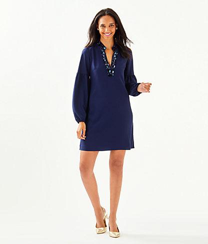 Shea Stretch Dress, True Navy, large 4