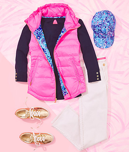 Palm Paradise Puffer Vest, Prosecco Pink, large 6