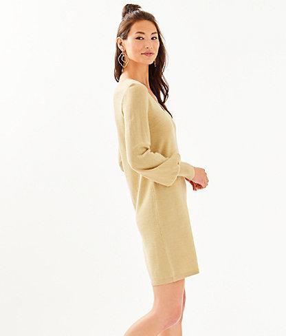 Sariya Sweater Dress, Heathered Sand Bar Metallic, large 2
