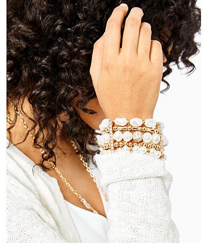 Kismet Pearl Stretch Bracelet, Resort White, large 2