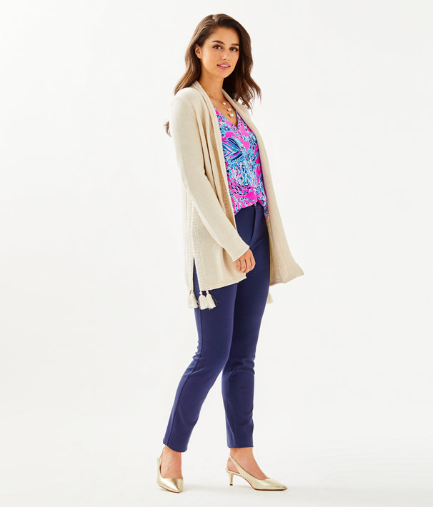 Ashwood Cardigan, Heathered Sandbank Metallic, large