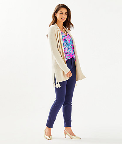 Ashwood Cardigan, Heathered Sandbank Metallic, large 2