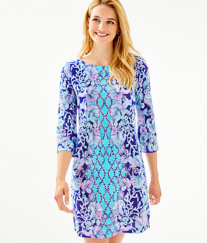 Bay Dress, Lapis Lazuli Your Biggest Fan Engineered Dress, large 0