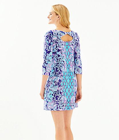 Bay Dress, Lapis Lazuli Your Biggest Fan Engineered Dress, large 1