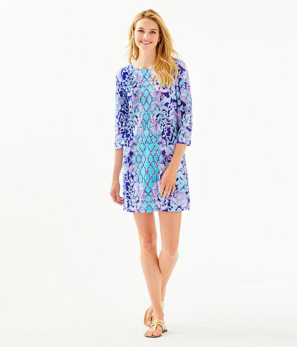Bay Dress, Lapis Lazuli Your Biggest Fan Engineered Dress, large