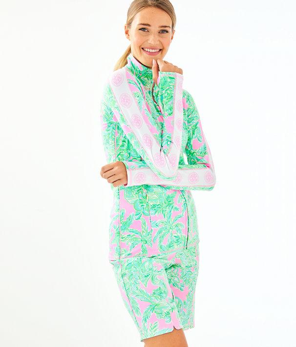 UPF 50+ Luxletic Serena Zip-Up, Mandevilla Baby Pink Sand Paradise, large