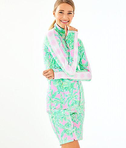 UPF 50+ Luxletic Serena Zip-Up, Mandevilla Baby Pink Sand Paradise, large 0