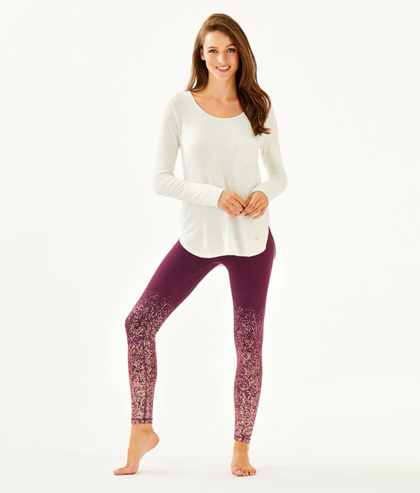 "UPF 50+ Luxletic 26"" Weekender High Rise Legging, Cabernet Berry Anything Is Possible Engineered Luxletic, large"