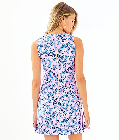 Mila Stretch Shift Dress, Zanzibar Blue Ruff Night, large 1