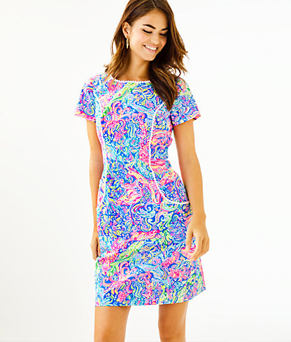 Coralynn Shift Dress, Multi Pop Up 60 Animals, large 0