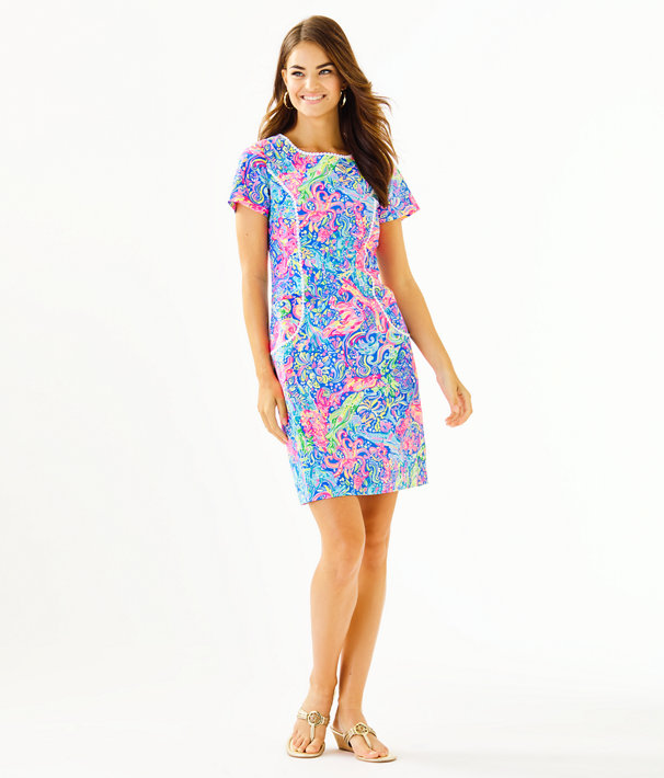 Coralynn Shift Dress, Multi Pop Up 60 Animals, large