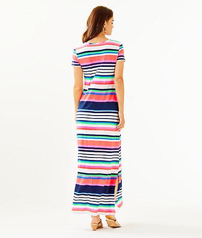 Milana Maxi Dress, Multi Sunshine Stripe, large 1