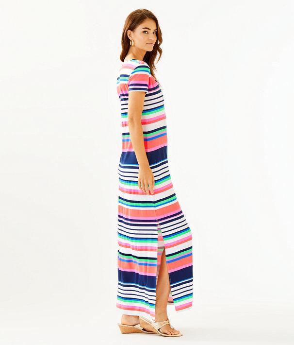 Milana Maxi Dress, Multi Sunshine Stripe, large