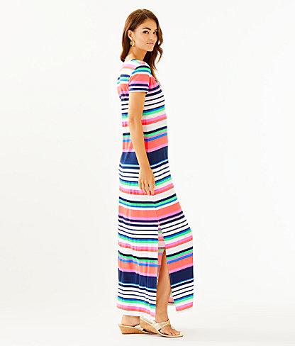 Milana Maxi Dress, Multi Sunshine Stripe, large 2