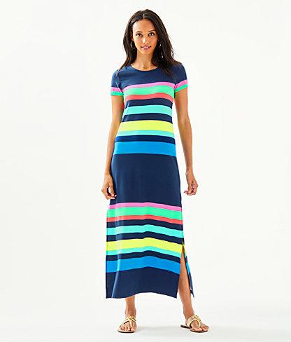 Tae Maxi Dress, Multi Gecko Stripe, large 0