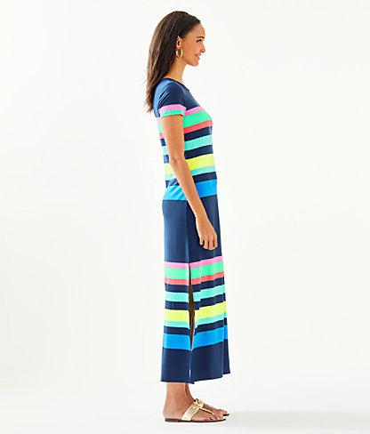 Tae Maxi Dress, Multi Gecko Stripe, large 2