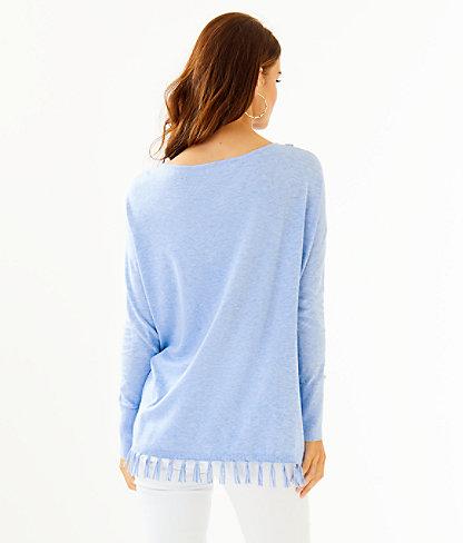 Emberly Coolmax Sweater, Heathered Blue Peri, large 1