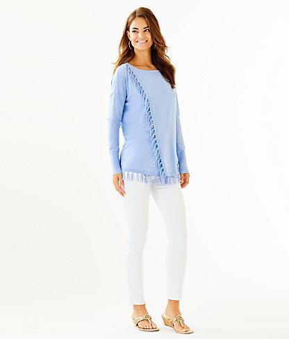 Emberly Coolmax Sweater, Heathered Blue Peri, large 2