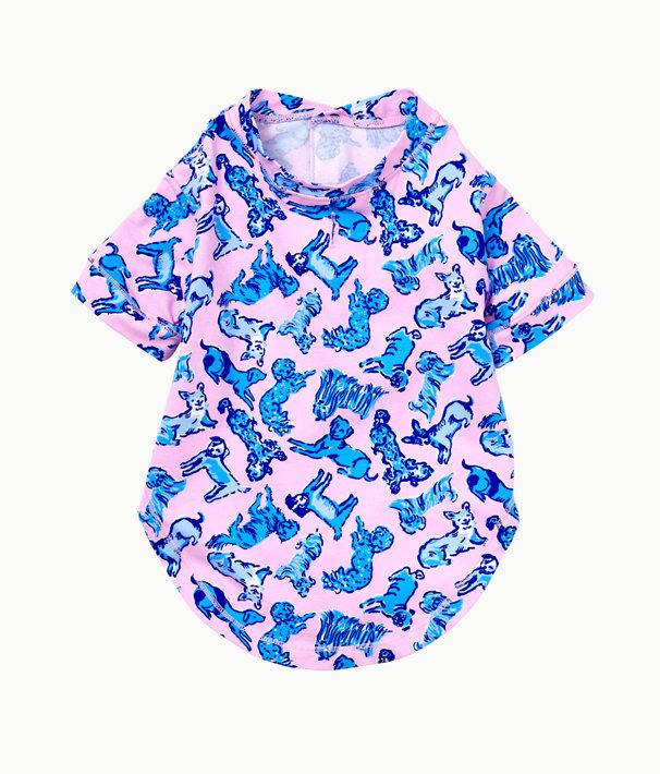 Lilly Dog PJ Shirt, Zanzibar Blue Ruff Night, large