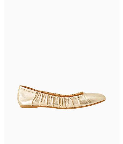 Kristi Ballet Flat, Gold Metallic, large 0