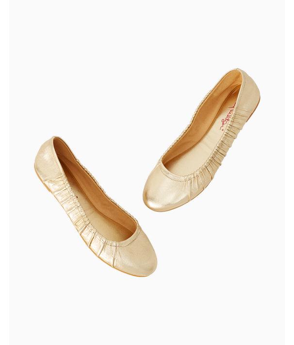 Kristi Ballet Flat, Gold Metallic, large