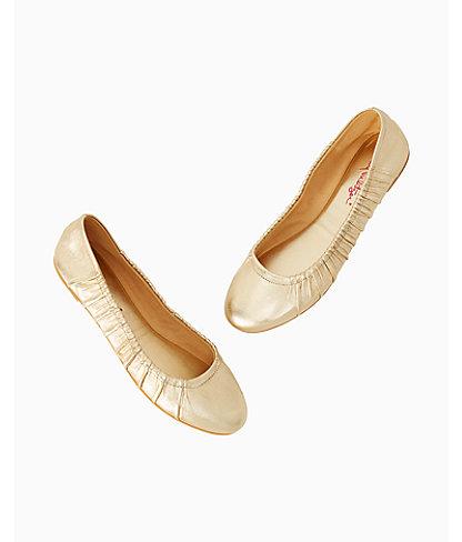 Kristi Ballet Flat, Gold Metallic, large 2