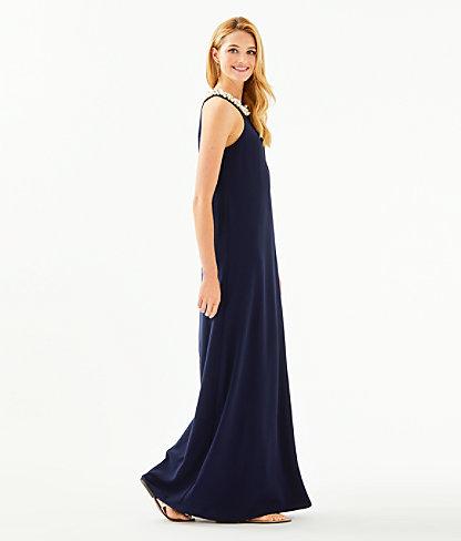 Shawn Maxi Dress, True Navy, large 2