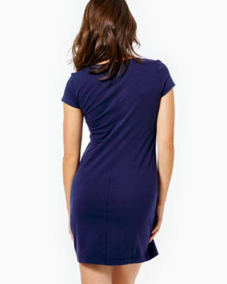 Brewster T-Shirt Dress, True Navy, large 1