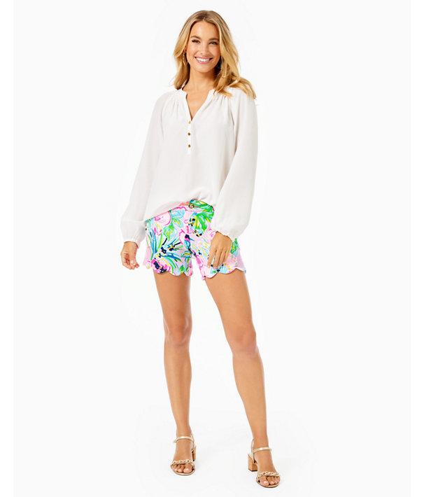 Elsa Silk Top, Resort White, large