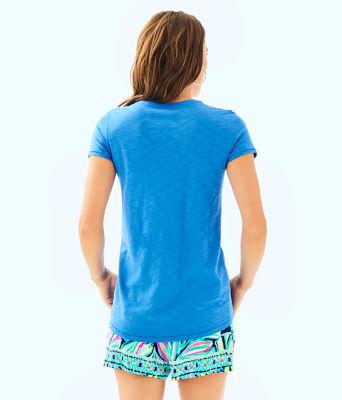 Etta V-Neck Top, Bennet Blue, large