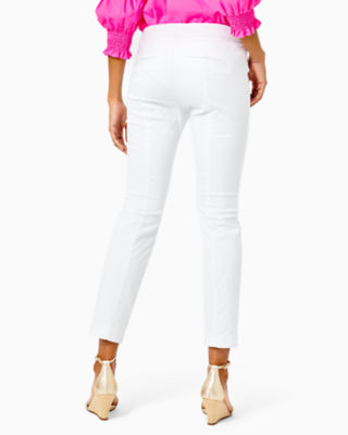 "29"" Kelly Textured Ankle Length Skinny Pant, Resort White, large 1"
