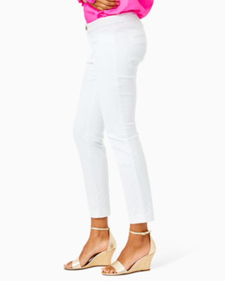 "29"" Kelly Textured Ankle Length Skinny Pant, Resort White, large 2"