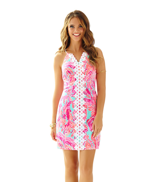 Lilly Pulitzer Sweet Tarty Yellow Cotton Pearl Shift Dress 4 6 8 New