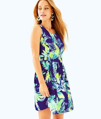 Kassia Fit & Flare Dress, Twilight Blue Nest To Nothing, large