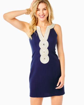 Valli Shift Dress, True Navy, large 0