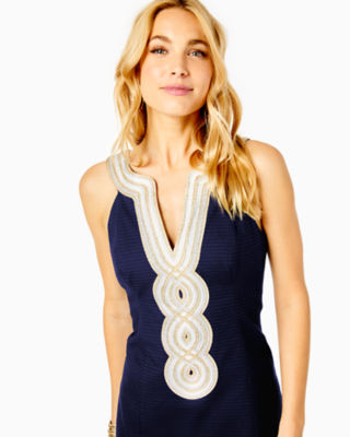Valli Shift Dress, True Navy, large