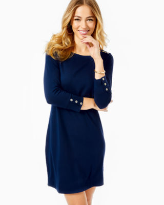 UPF 50+ Sophie Dress, True Navy, large 0