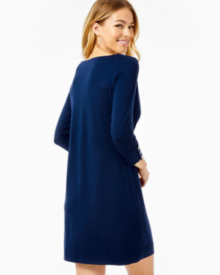 UPF 50+ Sophie Dress, True Navy, large 1