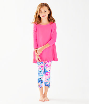 Girls Maia Legging, Bennet Blue Hypes And Stripes, large