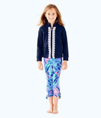 Girls Maia Legging, Twilight Blue Scale Up, large