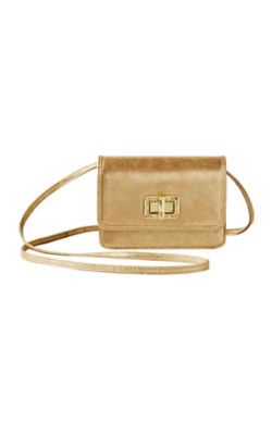 Ibiza Interchangeable Crossbody, Gold Metallic, large